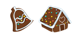 Christmas Gingerbread Bell and House Cursor