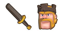 Clash of Clans Barbarian King Sword Cursor