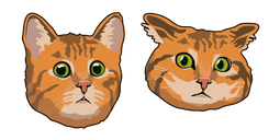 Confused Red Cat Cursor