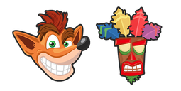 Crash Bandicoot and Aku Aku Mask Cursor