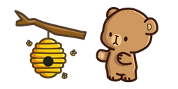 Cute Bear and Beehive Cursor