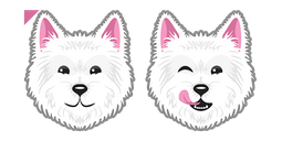 Cute Westie Dog Cursor