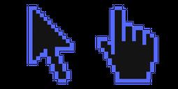 Dodger Blue Pixel Cursor