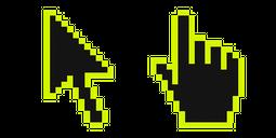 Electric Lime Pixel Cursor