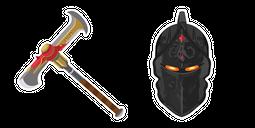 Fortnite Black Knight Skin Pickaxe Cursor