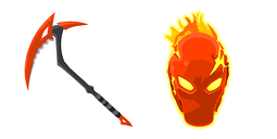 Fortnite Inferno Skin Pickaxe Cursor