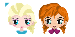 Frozen Elsa and Anna Cursor