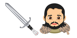Game of Thrones Jon Snow Longclaw Sword Cursor