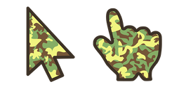 Green Brown Camo Cursor