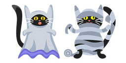 Halloween Black Cats Ghost and Mummy Cursor