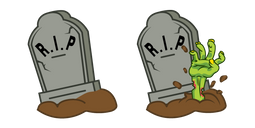 Halloween Grave and Zombie Hand Cursor