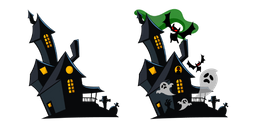 Halloween Haunted House Cursor