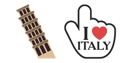 Italy Tower of Pisa Cursor