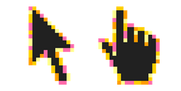 Beach Sunset Pixel Cursor