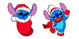 Lilo & Stitch Christmas Stitch Cursor