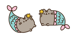 Mermaid Pusheen Cursor