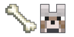 Minecraft Bone and Wolf Cursor