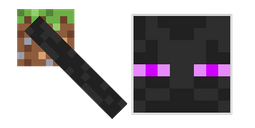 Minecraft Enderman with Earth Block Cursor