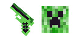 Minecraft Gun & Creeper Cursor