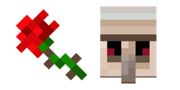 Minecraft Rose and Iron Golem Cursor