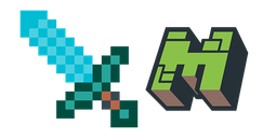 Minecraft Diamond Sword & Logo Cursor