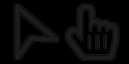 Modern Black Outline Cursor