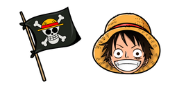One Piece Monkey D Luffy Flag Cursor