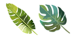 Aquarelle Tropical Leaf Cursor