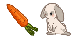 Cute Rabbit and Carrot Cursor