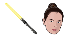 Star Wars Rey Skywalker Yellow Lightsaber Cursor