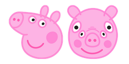 Peppa Pig Front View Cursor