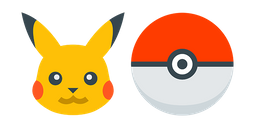 Pokemon Pikachu and Pokeball Cursor