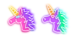 Pink and Purple Unicorn Neon Cursor