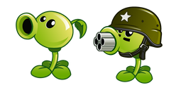 Plants vs Zombies Peashooter and Gatling Pea Cursor