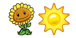 Plants vs Zombies Sunflower and Sun Cursor