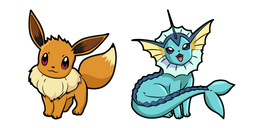 Pokemon Eevee and Vaporeon Cursor