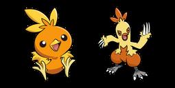 Pokemon Torchic and Combusken Cursor