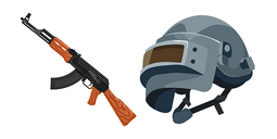 PUBG Helmet and AKM Cursor