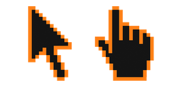 Pumpkin Pixel Cursor
