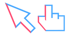 Red & Blue Stroke Cursor