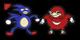 Sanic & Ugandan Knuckles Cursor