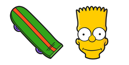 The Simpsons Bart Skateboard Cursor