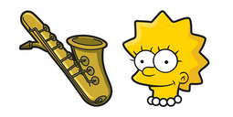 The Simpsons Lisa Saxophone Cursor
