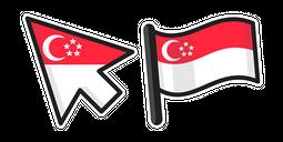Singapore Flag Cursor