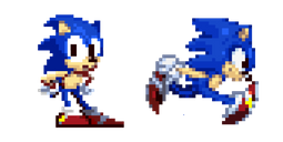 Sonic the Hedgehog Pixel Cursor