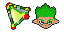 Splatoon 2 Green Inkling Splat Bomb Cursor