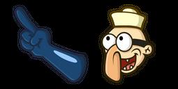 SpongeBob Barnacle Boy Blue Glove Cursor