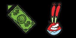 SpongeBob Mr Krabs Dollar Cursor