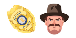 Stranger Things Chief Hopper Badge Cursor
