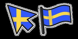 Sweden Flag Cursor